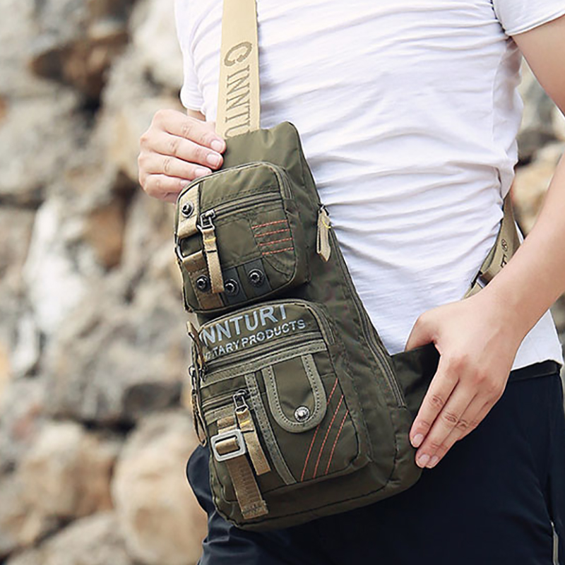 High Quality Nylon Military Men Crossbody Bag Vintage Shoulder Messenger Bags Waterproof Travel Riding Sling Chest Day Back Pack green camo equipment men 600d nylon military travel crossbody messenger shoulder back pack sling chest waterproof nylon bag mini