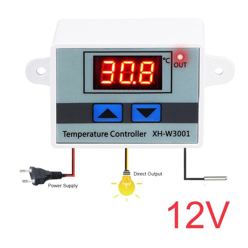 HTB1Ph9ztA9WBuNjSspeq6yz5VXat 10A 12V 24V 110V 220VAC Digital LED Temperature Controller XH-W3001 For Incubator Cooling Heating Switch Thermostat NTC Sensor