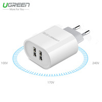 Ugreen Mi5 EU UK 2 USB Charger For IPhone 6S Plus USB Wall Charger For Samsung