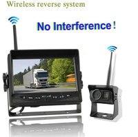 7 дюймов цифровой Беспроводной заднего вида Камера Системы для тяжелых транспортных средств