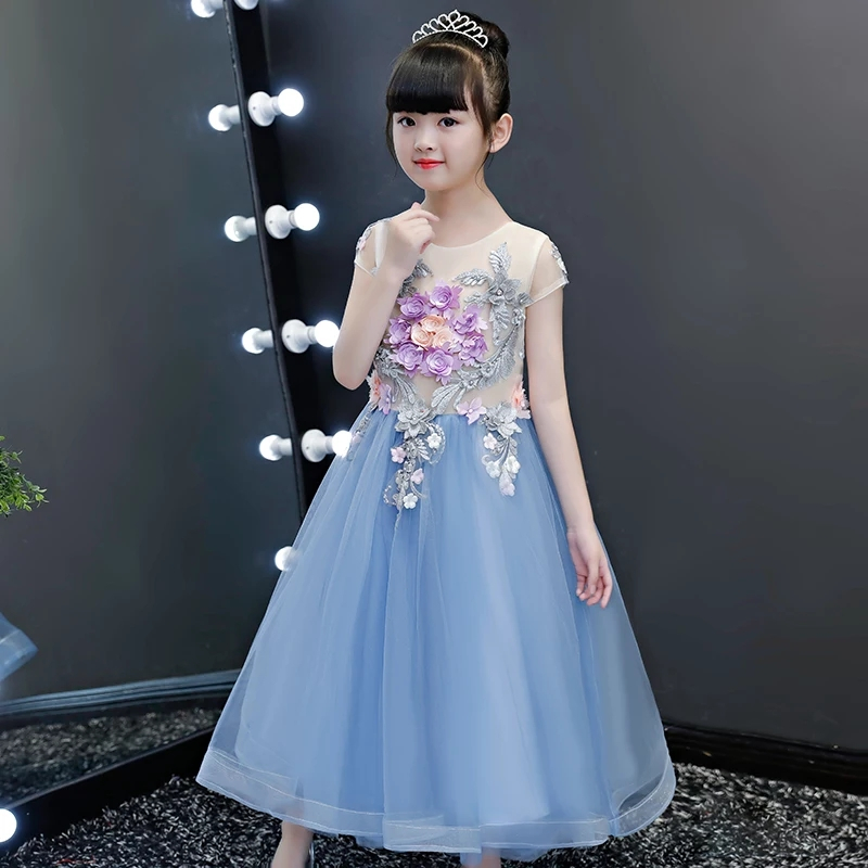 3~14years Children Girls High Quality Appliques Flowers Birthday Wedding Party Pageant Prom Dress Kids Baby Luxury Costume Dress3~14years Children Girls High Quality Appliques Flowers Birthday Wedding Party Pageant Prom Dress Kids Baby Luxury Costume Dress