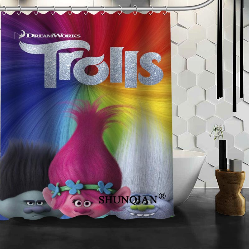 Best Nice Custom Trolls Shower Curtain Bath Waterproof Fabric Bathroom MORE SIZE A61 121 In Curtains From Home Garden On