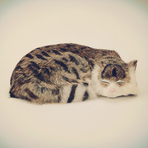simulation animal large 27x21x10cm prone cat model lifelike sleeping cat cat toy decoration gift t470