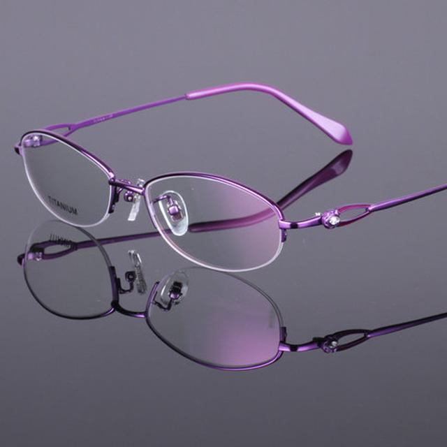 Женская Оправы для очков Titanium Половина Очки Без Оправы Кадров Ясно Lenes Óculos Де Грау RS-919 4 Цвет Розовый Фиолетовый Красный черный