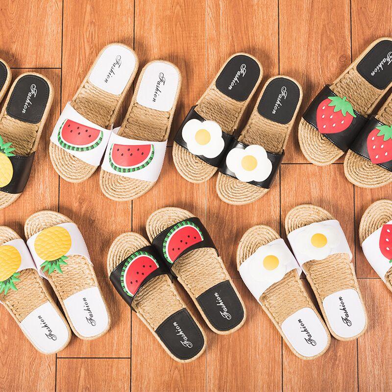 2018 Жіночі тапочки Мода Літні милі - Жіноче взуття