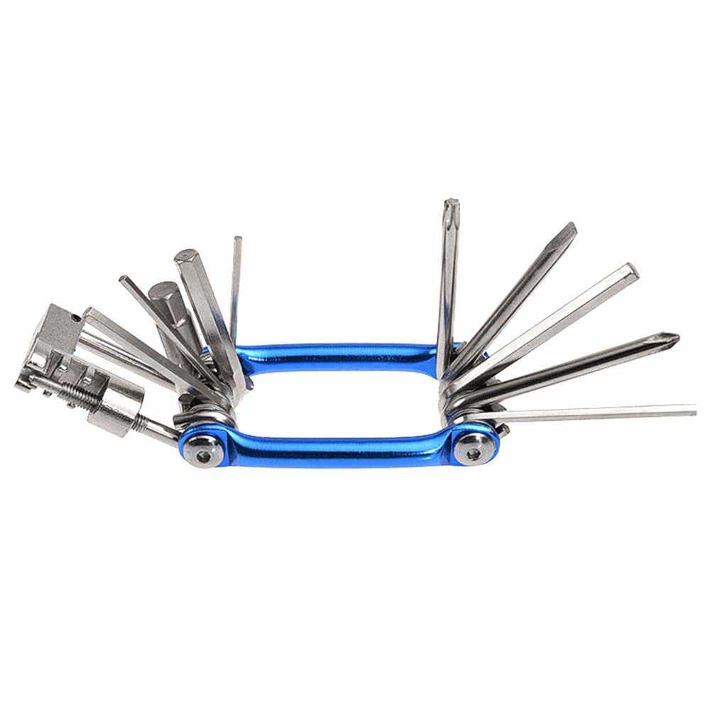 Карман 11 в 1 Мультитул складной Велосипедный спорт комплекты для ремонта шин гаечные ключи цепь отвертки резак Велоспорт EDC велосипед инструменты комплект