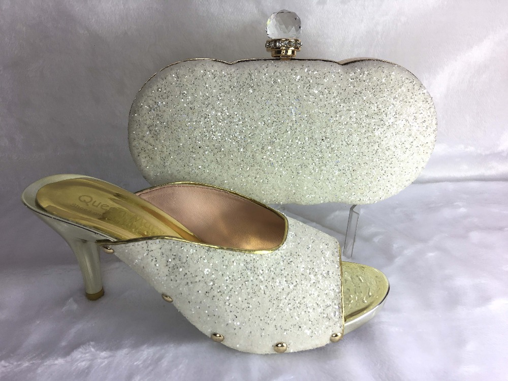 Hot sale 2015 new arrival wedding shoes and matching bags to match for sexy lady Italian