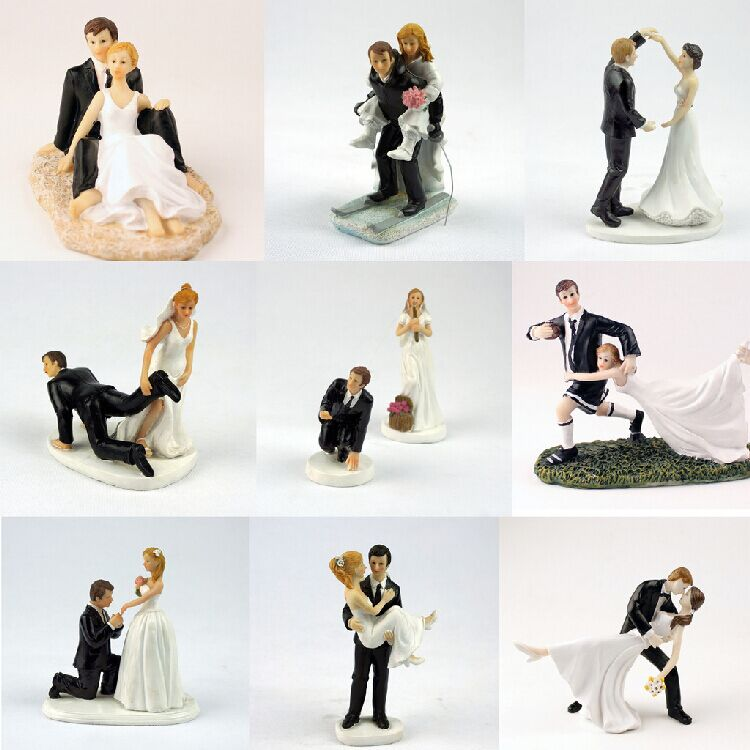 Cake Decor Figurines : Aliexpress.com : Buy Fanny Bride Groom Figurine Wedding ...