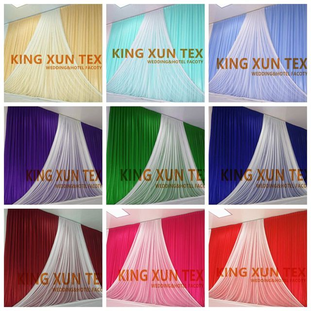 new design wholesale price wedding backdrop curtain with organza