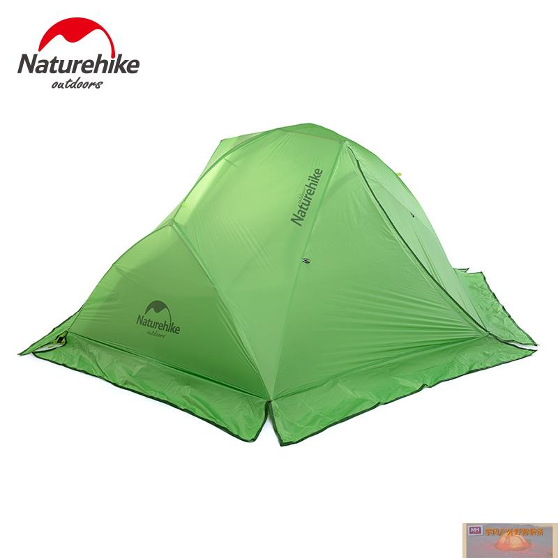 NH super light outdoor tent camping tent  2 persons double layer rain 20D Silicon coating tents with snow skirt