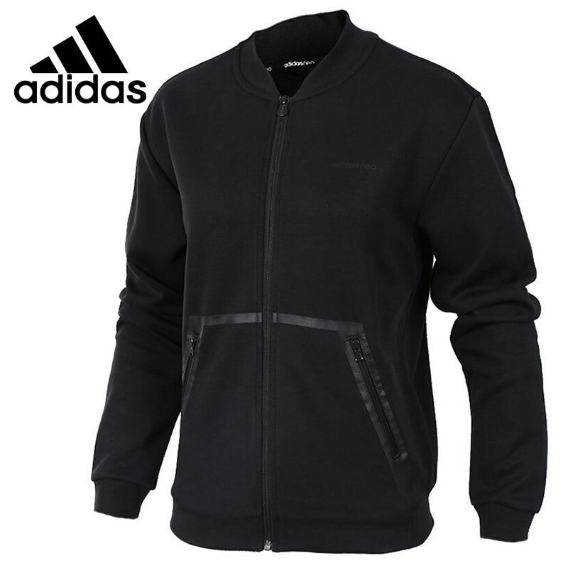 Original New Arrival Adidas NEO Label W CS BOMBER JKT Women's jacket Sportswear striped trim fluffy panel bomber jacket