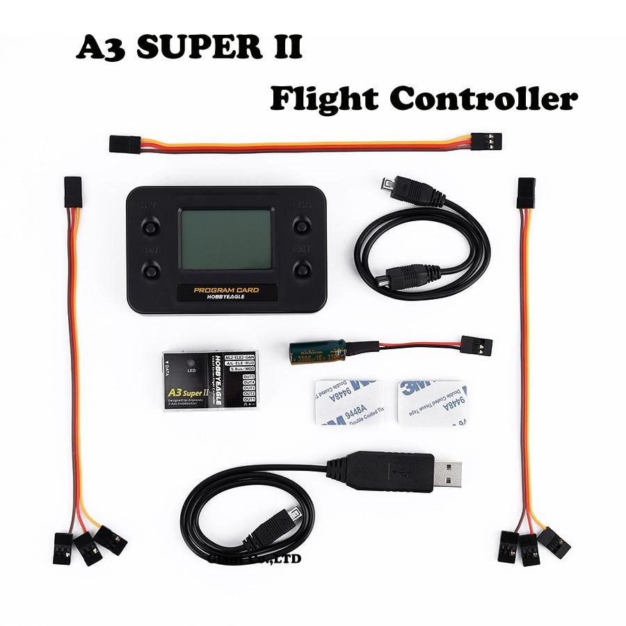 F14115/16 EAGLE A3 Super II V2 6-axle Gyro & RC Flight Controller Stabilizer Half / Full Set - Programe Card for RC Airplane f14115 16 ocday eagle a3 super ii v2 6 axle gyro