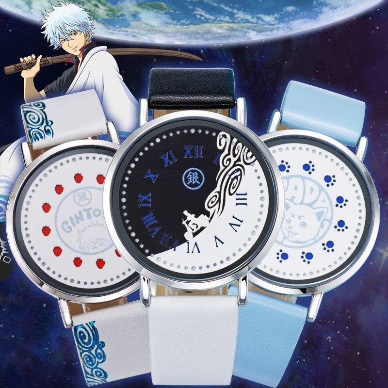 GINTAMA LED Watch Waterproof Touch Screen Anime Watches Manga Role Gintoki Kagura Sadaharu Comics Cartoon Best Friend Gift цена и фото