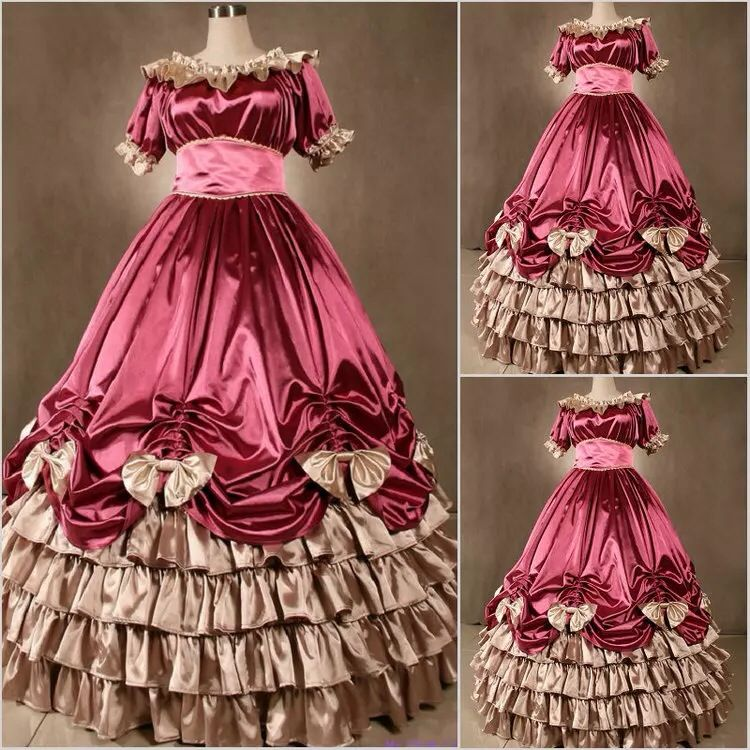 Victorian Classic Lolita Gothic Lotus Leaf Edge Retro Dresses Palace Dresses Stage Skirts
