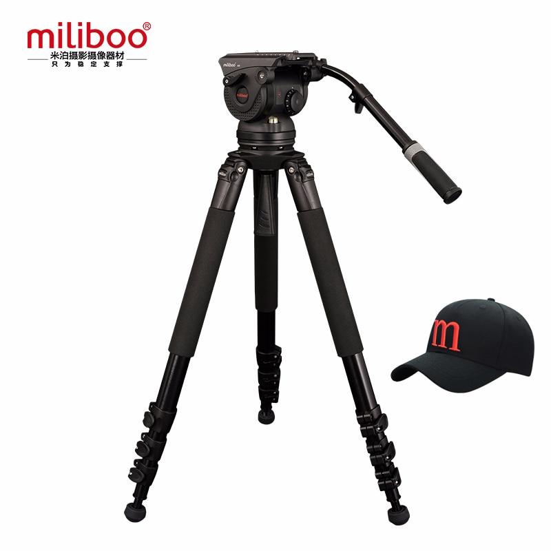 miliboo M8L Professional Broadcast Movie Video Tripod with Fluid Head Load 18 kg for Camera DSLR