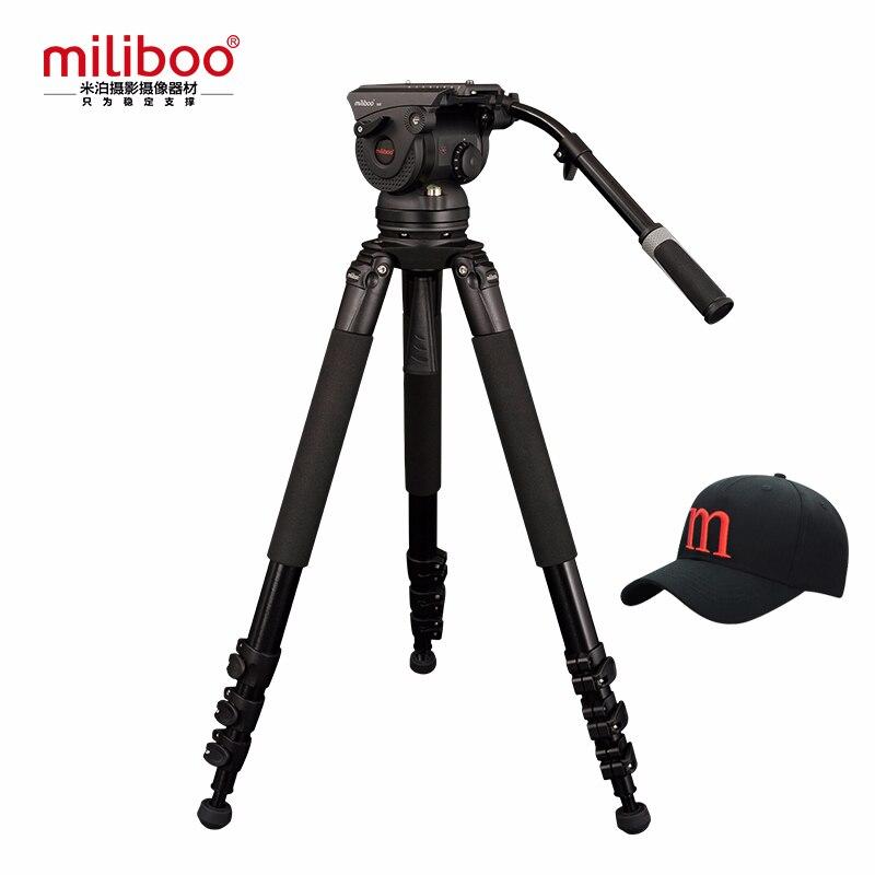Miliboo M8L Filme Transmissão de Vídeo Profissional Tripé com Cabeça Hidráulica 18 kg de Carga para a Câmera/Filmadora DSLR Suporte