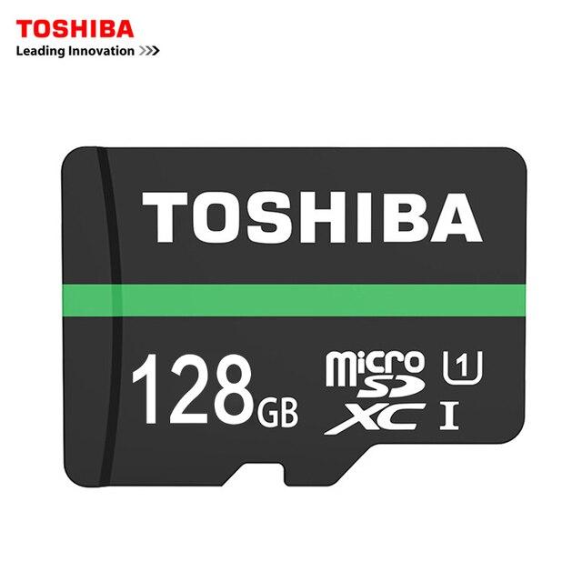 Toshiba Карты Памяти 128 ГБ карта micro sd Class10 UHS-1 КАРТ Флэш-Карты Памяти Microsd для Планшетных/Смартфон Официальная Проверка
