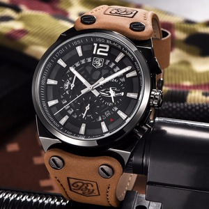 Image 5 - Top Brand BENYAR Large dial design Chronograph Sport Mens Watches Fashion Military Waterproof Quartz Watch Relogio Masculino