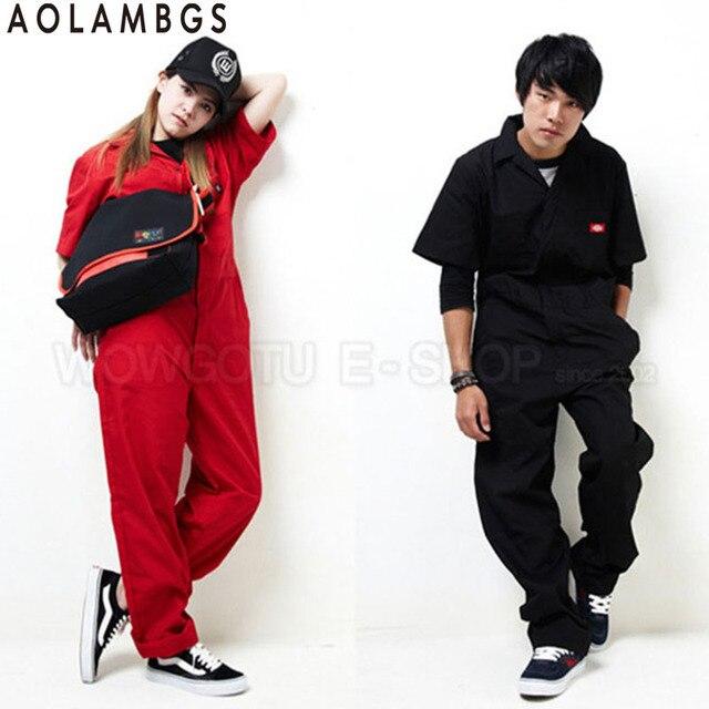 Женщины мужчины hip hop танцы комбинезон комбинезон 2016 летняя мода с коротким рукавом one piece комбинезоны сплошной цвет Плюс Размер S-XXXL