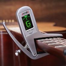 Aroma meideal ac-05 quick change key capo Tuner material de aleación para eléctrica acústica Guitarras bajo cromático