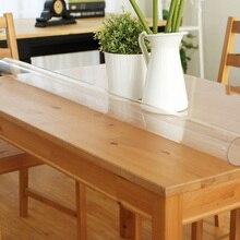 Hohe Qualität PVC Wasserdicht Ölbeständiges Einfache Quadratischen Tisch Tuch Rechteckige Kristall Kunststoff Klar Tischdecken Einfache