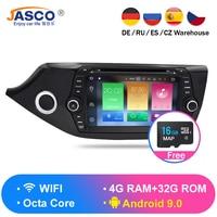 Android 9.0 8.0 Car DVD Player GPS Glonass Navigation Multimedia for Kia Ceed 2013 2014 2015 Auto RDS Radio Audio Video Stereo