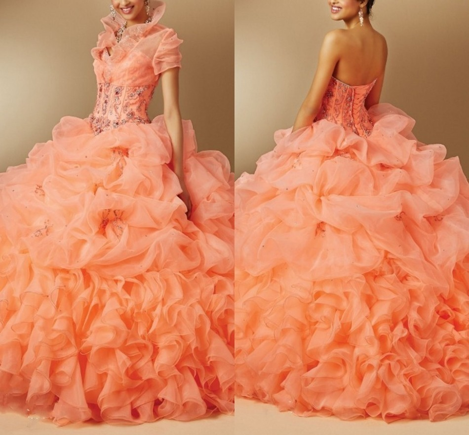 Quinceanera font b Dresses b font Crystal Ball Gown with Jacket Beading font b Custom b