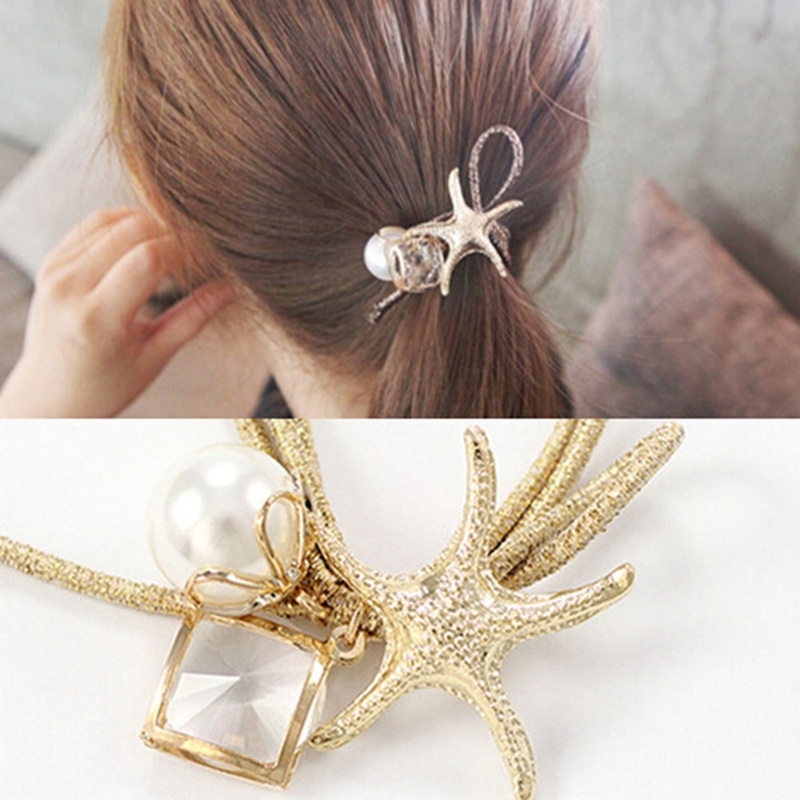 2018 New Arrival Fashion Starfish Hair Accessories Gold
