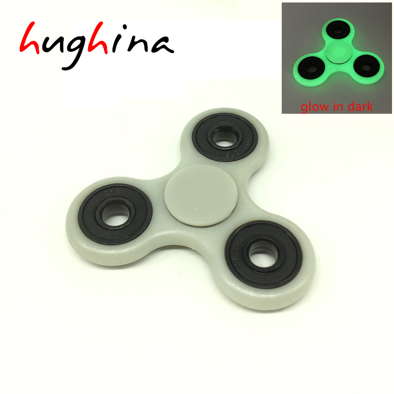 Hughina Creative Tri-Spinner Fidget Toy fidget cube Anti Stress Fidget Spinner Professional Hand Spinner Glow in the Dark toys