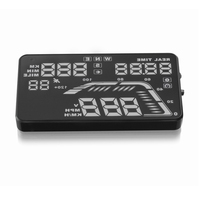 Hot sale Q7 5.5 Inch colorful Digital speedometer Consumption Data GPS function HUD Display Heads Up OBD 2