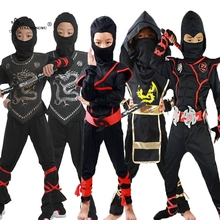 Children Halloween Ninja Costumes Cosplay Boys Party