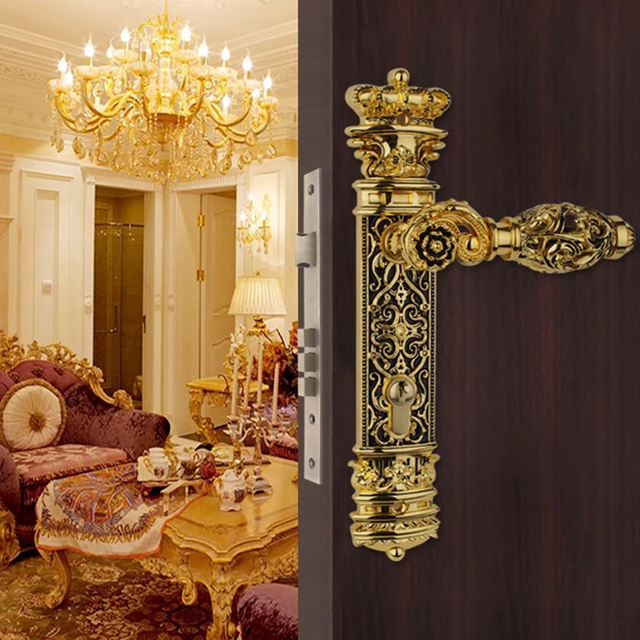Beau Luxury Hardware Indoor Wooden Door Locks Mechanical Double Tongue Locks Split  Bedroom Handle Locks Exquisite Fashion