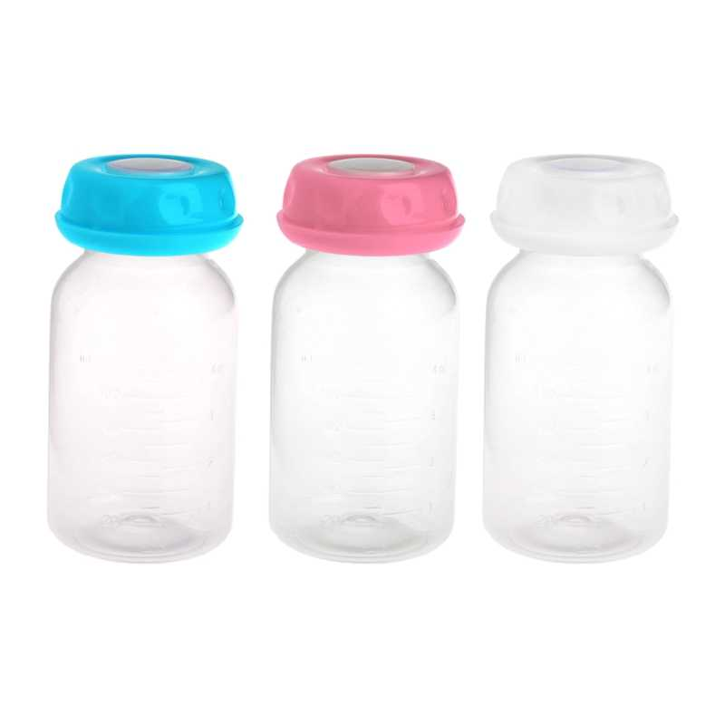 Baby 125ML Breast Milk Feed Bottles Collection Storage Neck Wide Storage Bottle