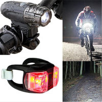 USB Charging Bicycle Front Headlight Rear Tail Light 4 Modes Mountain Bike LED Lamp Safety Night