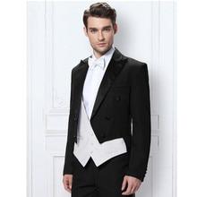 Man suit custom black tuxedo groom formal occasions ball ball men's wedding suits (coat + pants + vest)