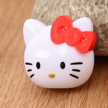 Kawaii cute Hello Kitty head single hole pencil sharpener Office School Supplies Pencils Writing Pencil Sharpeners Child gift tenwin electric pencil sharpener kawaii automatic pencils sharpeners for kids knives cute stationery office school supplies