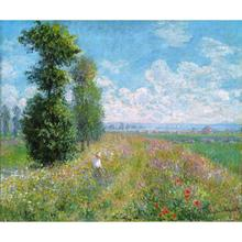 Meadow with Poplars by Claude Monet Oil paintings reproduction Landscapes art hand-painted home decor monet in giverny landscapes of reflection
