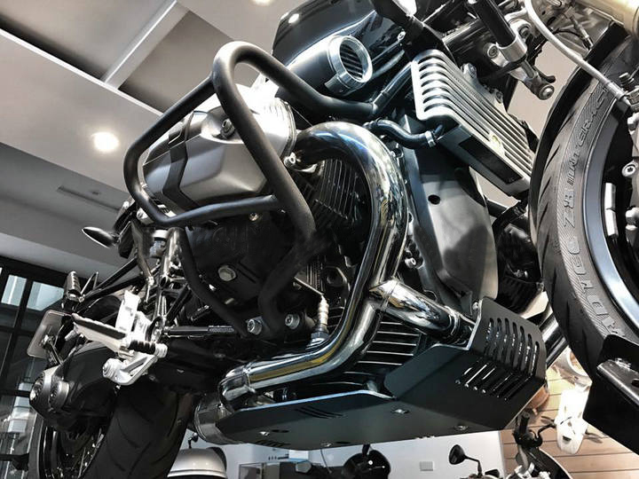 Silver RETYLY Motorcycle Skid Plate Engine Guard for R Nine T /& Scrambler /& Pure 2014-2019