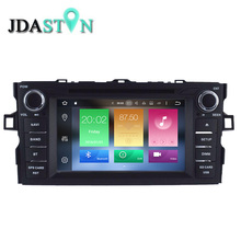 JDASTON 7 INCH 2 DIN 2GB+32GB Android 6.0 Car DVD Player For TOYOTA AURIS Eight Core Auto Radio Multimedia GPS Navigation SWC