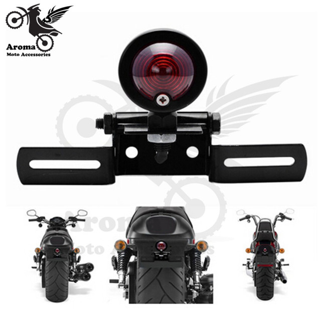 motorcycle tail light with License Plate Holder Tail Light Bracket Mount Support motorbike rear red lighting moto brake light