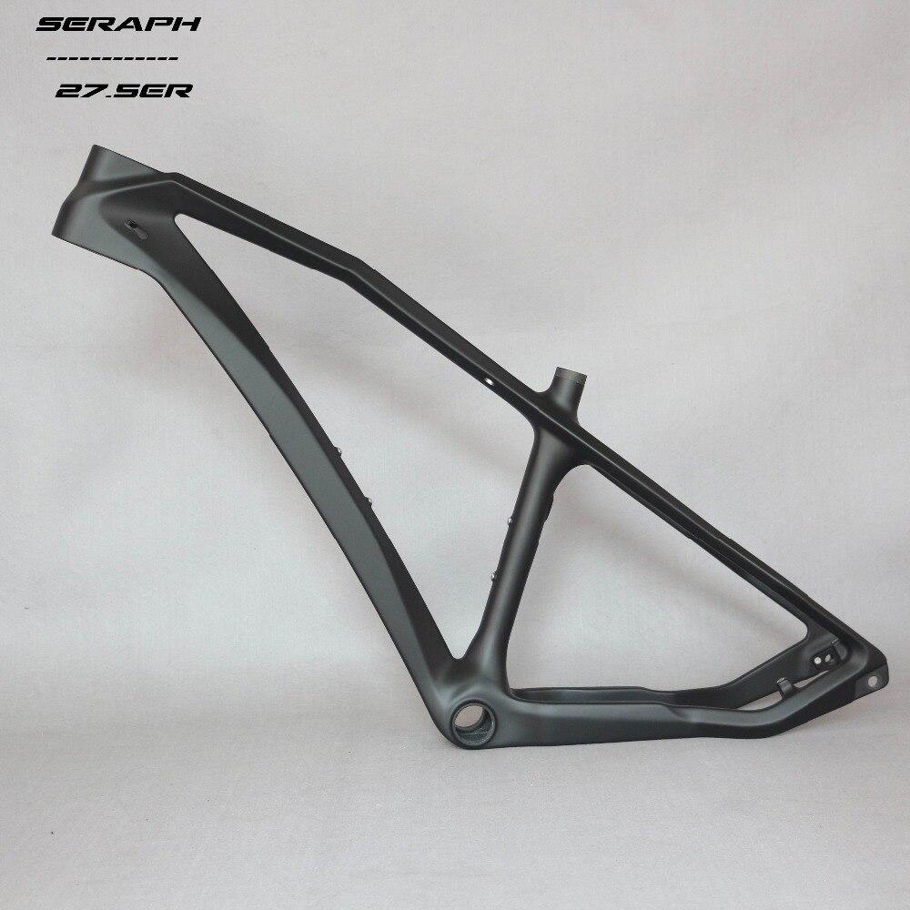 Бесплатная доставка Серафим MTB Рама 27.5er Жесткий Хвост карбоновая велосипедная Рама дешевле OEM известный бренд рамка распродажа 142*12 мм
