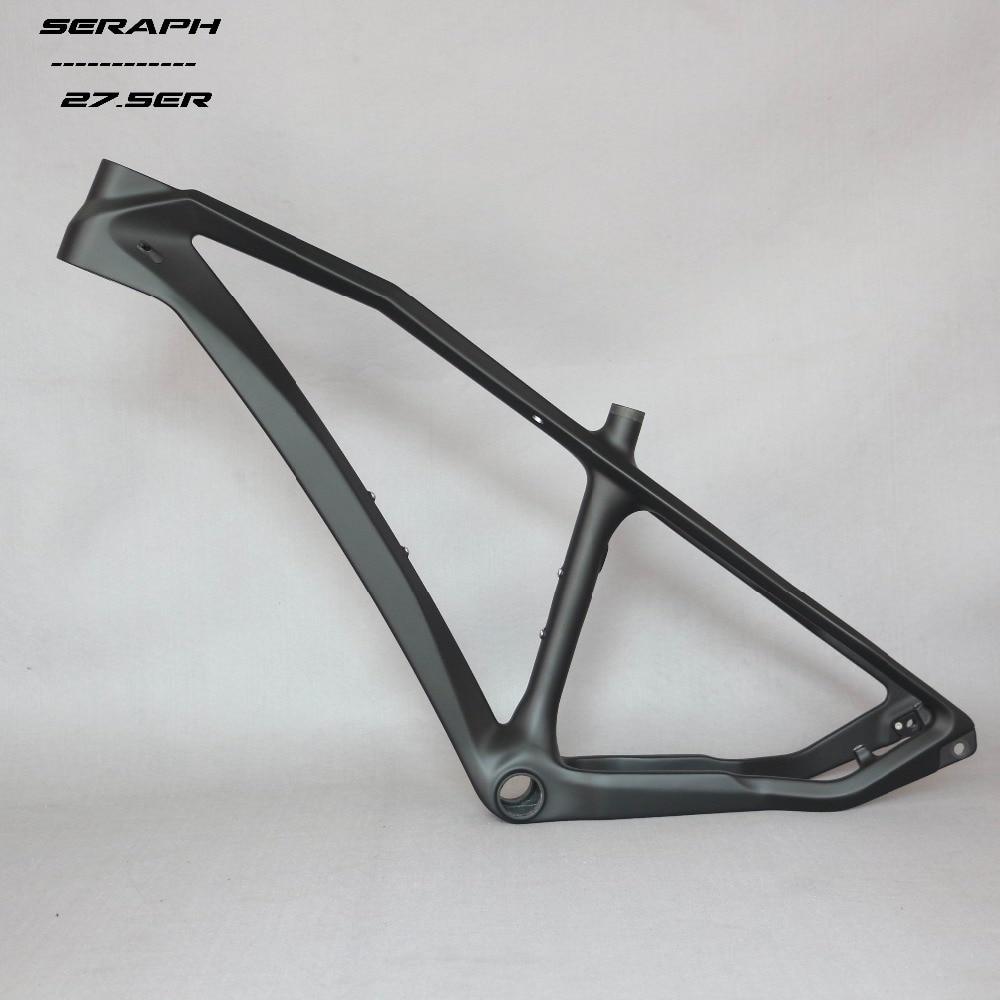 Trasporto libero SERAFINO telaio MTB 27.5er hard tail struttura della bici del carbonio più poco costoso OEM di marca Famosa telaio liquidazione di vendita 142 * 12mm