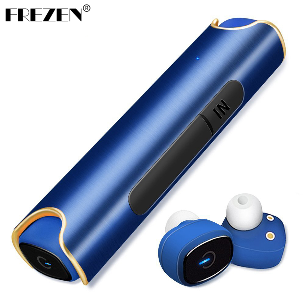 FREZEN IP67 Waterproof S2 Bluetooth Headset 850 MAH Charger Box TWS Binaural Stereo Wireless Earbuds for IPhone Android PK X2T remax 2 in1 mini bluetooth 4 0 headphones usb car charger dock wireless car headset bluetooth earphone for iphone 7 6s android