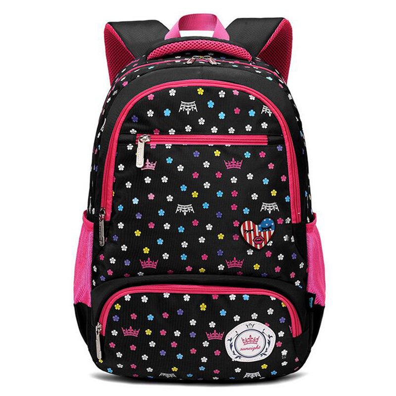New 2018 Lightweight Floral Printed School Bag For Girls Kid Backpack Zipper Backpacks For Grade 3-5 Primany School Backpack ...