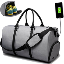 Купить с кэшбэком men travel bags Usb charge large capacity waterproof canvas men travel bag big luggage duffle bag 45L travel bags hand luggage