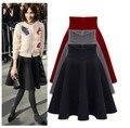 Юбки рекламные 2016 Maone бюст высокой талии юбка в складку пачка женщина осень и зима загущающие длинные S-XXXL