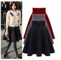 Promotional 2016 Maone bust skirt high waist pleated skirt skirt tutu woman autumn and winter thickening skirts long S-XXXL