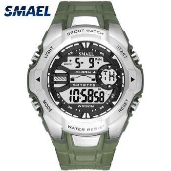Cyfrowe zegarki na rękę wojskowy SMAEL fajne S Shock Relojes Hombre Casual zegar LED zegarek mężczyźni Big Dial1340 Sport zegarki wodoodporne