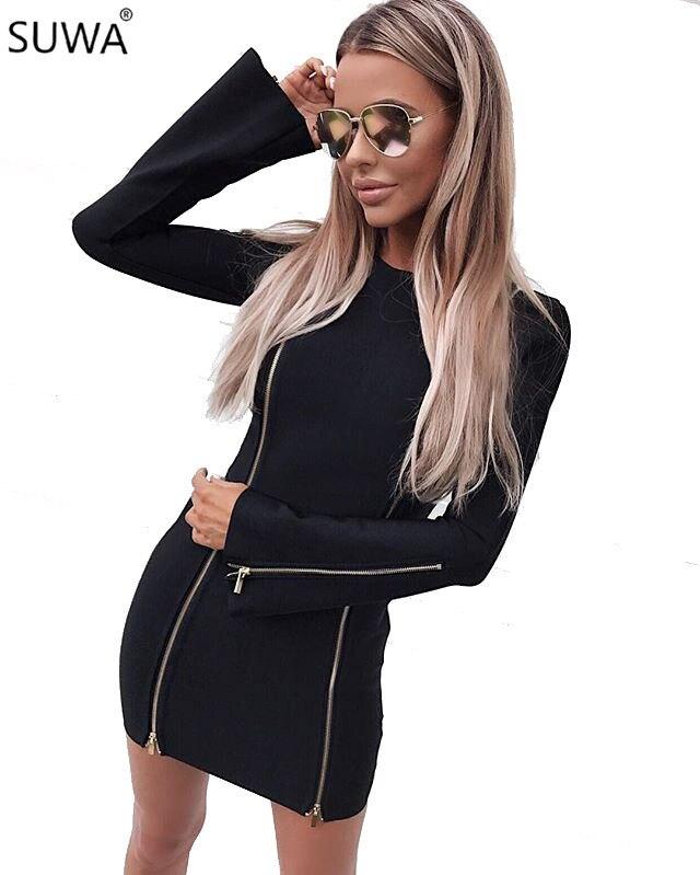 2018 Hot design slim fit spring summer dress long sleeve women short mini dress evening vestidos femininos TS686