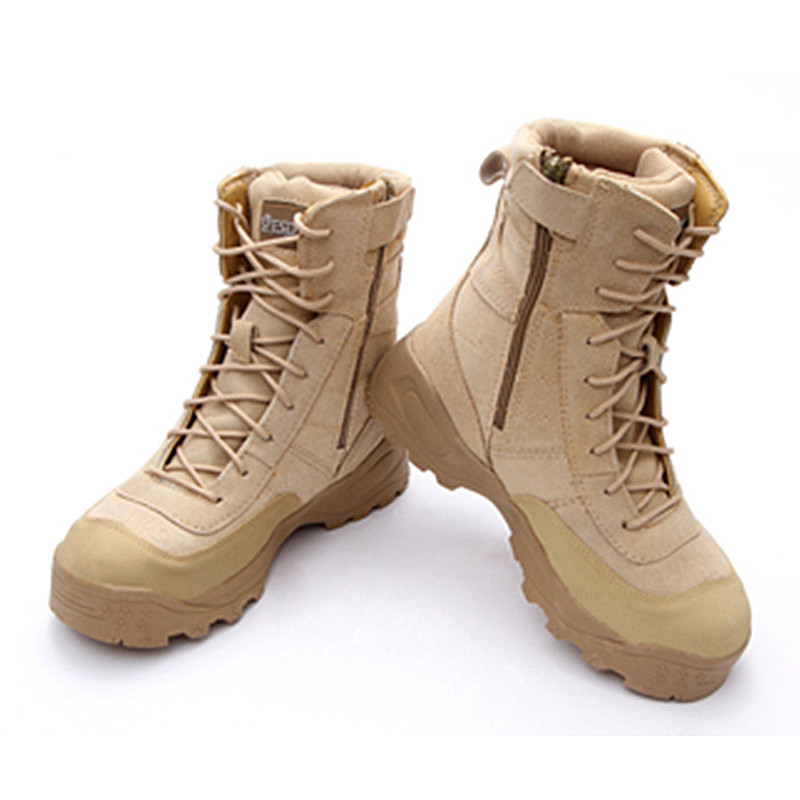 Tactical Boots Men 39-45 Waterproof Outdoor Shoes Genuine Leather Rubber Boots Hunting Trekking Hiking Botas Military Boots Men men winter boots plush warm hiking boots outdoor tactical trekking shoes men genuine leather waterproof ankle boots men sneakers